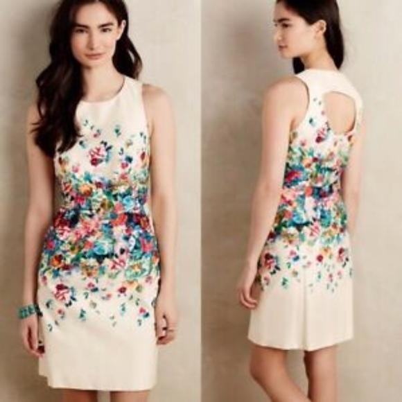 Maeve Dresses & Skirts - Anthropologie Maeve Tea Garden Floral Sheath Dress